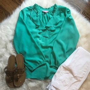 Lilly Pulitzer Teal Blouse